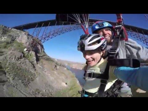 Tandem BASE jump, Twin Falls, Idaho