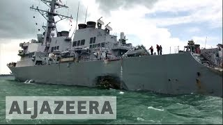 Ten missing after USS McCain collides with oil tanker near Strait of Malacca - ALJAZEERAENGLISH