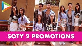SPOTTED : SOTY 2 team at JW Marriot for Media Interviews| Tiger Shroff| Ananya Pandey| Tara Sutaria - HUNGAMA