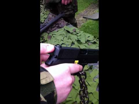 Cadet Reloading the 9mm Browning pistol