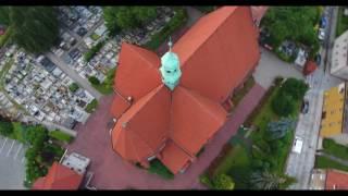 Nasz kościół z lotu ptaka (autor Maciej Forysiuk)
