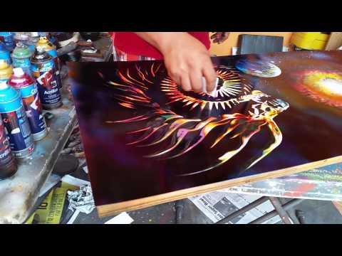 Dragón spray arte aerosol