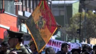 Bolivian army baking bread rolls amid strike - ALJAZEERAENGLISH