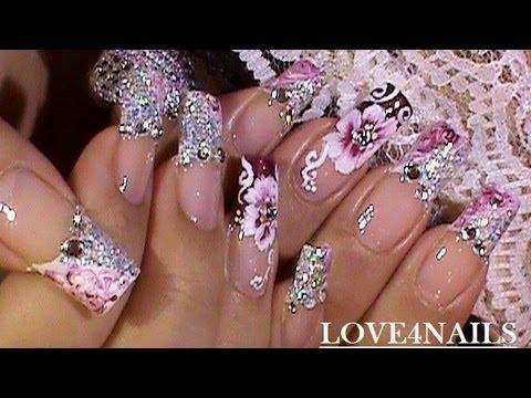 """"""" Яркий блеск"""" свадебный дизайн ногтей."""
