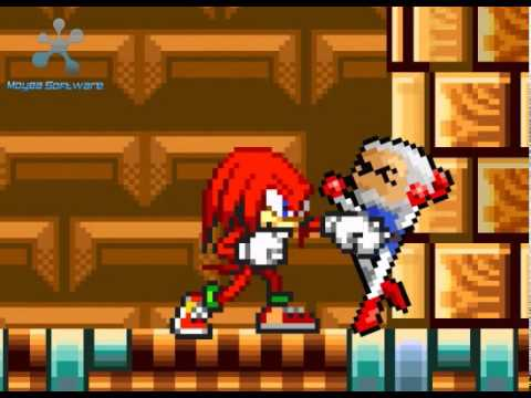 Sprite Fight: Bomberman Vs Knuckles