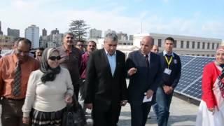 بالفيديو..محافظ الإسكندرية يزورمشروع خلايا الطاقة الشمسية