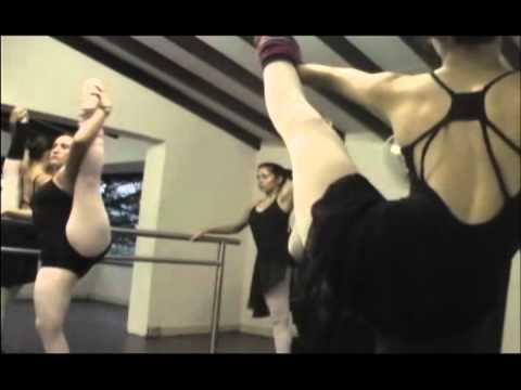 El prototipo de cuerpo en las bailarinas de ballet .avi