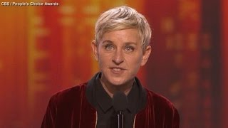 Ellen DeGeneres Makes History at People's Choice Awards - ABCNEWS