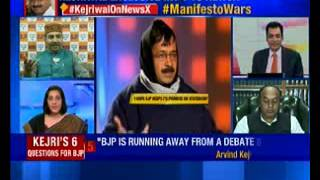 NewsX Exclusively: Arvind Kejriwal fires 6- bullets manifesto shot - NEWSXLIVE