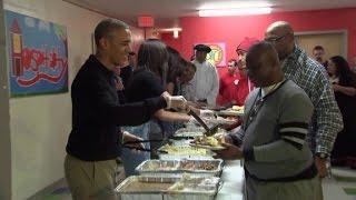 President Obama serves Thanksgiving dinner - CNN
