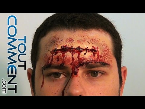Maquillage sicatrice - Comment faire une fausse blessure ...