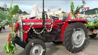 Kadapa Raghavendra Agencies Donates Tractor to Tirumala Tirupathi Devasthanams | CVR News - CVRNEWSOFFICIAL