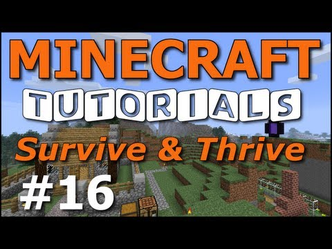 Minecraft Tutorials - E16 Sugar Cane Farm (Survive and Thrive II)