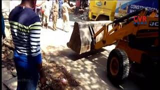 GHMC Special Drive to Continues Against Footpath Encroachment   2nd Day   CVR NEWS - CVRNEWSOFFICIAL