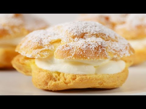 Cream Puffs Recipe Demonstration - Joyofbaking.com