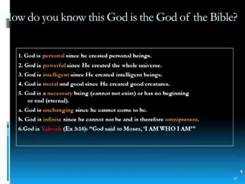 EXISTENCE OF GOD PART 1