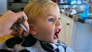Baby girl first haircut