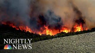 Firefighters Scrambling To Slow Surging Inferno Near Yosemite | NBC Nightly News - NBCNEWS