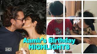Aamir's Birthday HIGHLIGHTS- Azad's B'day card & Kiran Rao's kiss - IANSINDIA