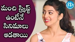 Actress Pranitha About Choosing Her Scripts || Talking Movies With iDream - IDREAMMOVIES