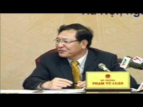 Đối thoại trực tuyến của bộ trưởng Phạm Vũ Luận với nhân dân