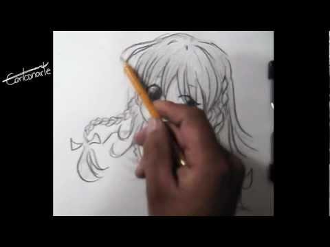 Cómo dibujar anime o manga - Dibujo a lápiz - chica - paso a paso - técnica - estilo manga