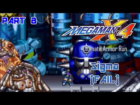 Mega Man X4 - Ultimate Armor Run Part 08 Fail | Too Much Gaming