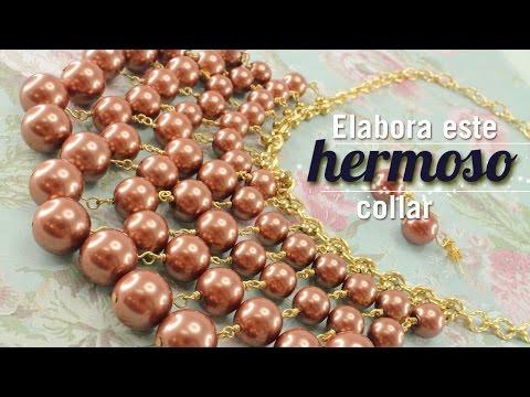 Kit 23161 como hacer un collar cascada perlas
