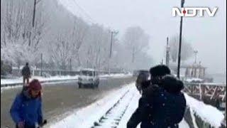 पहाड़ों पर बिछी बर्फ की चादर - NDTVINDIA