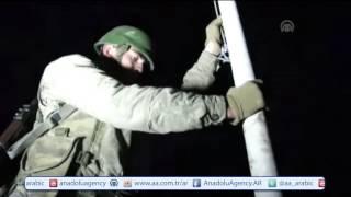 """شاهد.. لحظة دخول القوات التركية للأراضي السورية لنقل رفات """"سليمان شاه"""""""