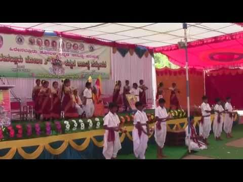 sanehalli shivakumara hps students kan song dance