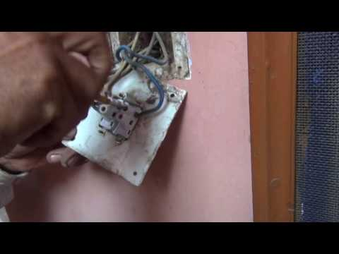 Easy Steps to change Light Switch (with Two Wires) without turning off Power (Hindi) (1080p HD)