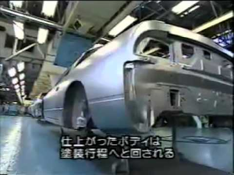Nissan Silvia 180SX S13 on factory production line