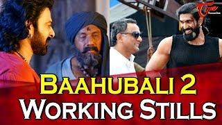 Baahubali 2 Exclusive Working Stills | Prabhas | Rana | Anuskha - TELUGUONE
