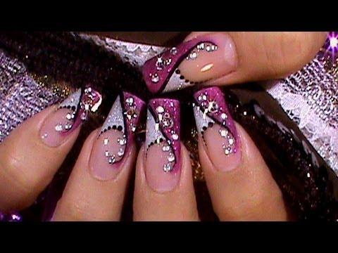 """Дизайн ногтей 2013 """"Серебрянный кристалл"""""""