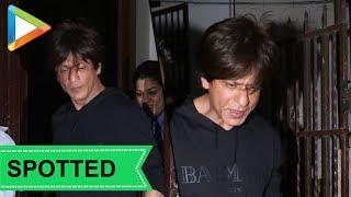 SPOTTED: Shah Rukh Khan at Shankar Mahadevan's dubbing studio - HUNGAMA
