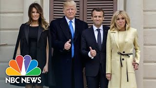 President Donald Trump, First Lady, Welcome France's President Macron | NBC News - NBCNEWS