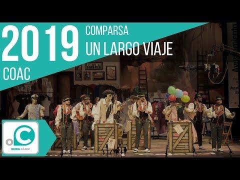 La agrupación Un largo viaje llega al COAC 2019 en la modalidad de Comparsas. En años anteriores (2018) concursaron en el Teatro Falla como La Playa, consiguiendo una clasificación en el concurso de Preliminares.