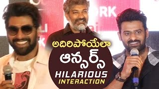 Baahubali 2 Team Superb Answers To Media Questions | Baahubali 2 Team Hilarious Interaction | TFPC - TFPC