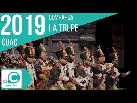 La agrupación La trupe llega al COAC 2019 en la modalidad de Comparsas. Primera actuación de la agrupación para esta modalidad.