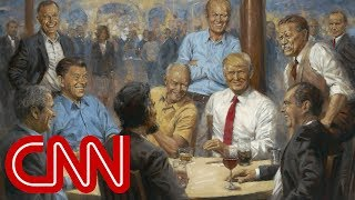 Artist's hidden message in Trump painting - CNN