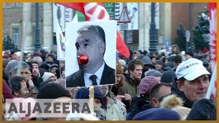 🇭🇺Thousands in Hungary protest PM Viktor Orban's 'slave law' | Al Jazeera English - ALJAZEERAENGLISH