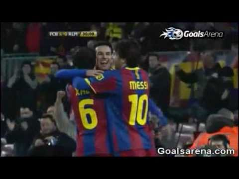 FC Barcelona vs Almeria 5 0 All Goals & Full Match Highlights 26 01 2011