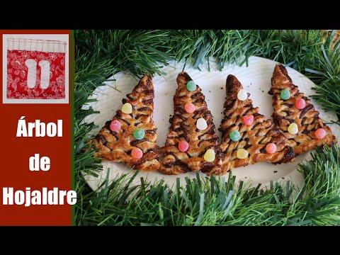 Arbol de Navidad de hojaldre y Nutella
