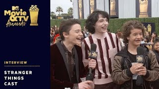 'Stranger Things' Cast send Get Well Wishes to Millie Bobby Brown | 2018 MTV Movie + TV Awards | MTV - MTV