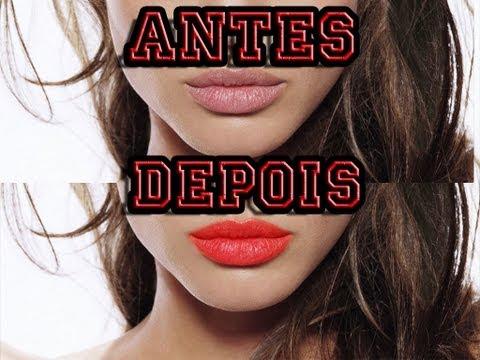tutorial photoshop cs6 (cc) - maquiagem digital - como passar batom nos Lábios