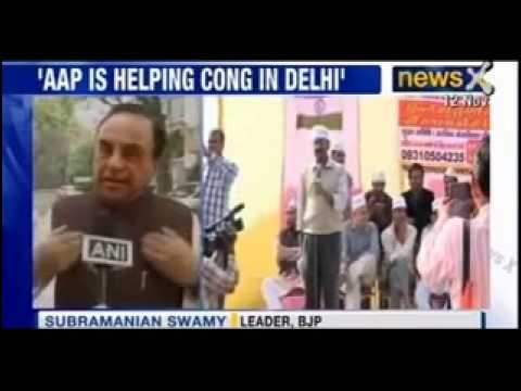 Dr Subramaniam Swamy attacks Arvind Kejriwal on AAP helping congress in Delhi - News X