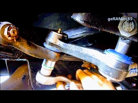 how to replace idler arm dodge ram 1500 | steering play wander repair wear out tie rod end wobble