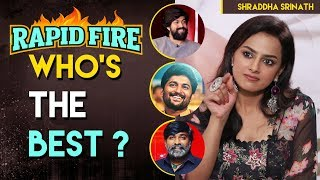 Nani vs Yash vs Vijay Sethupathi | Rapid Fire with JERSEY actress Shraddha Srinath | Indiaglitz - IGTELUGU