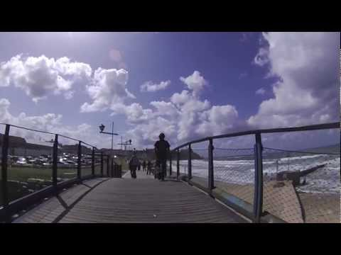 Cycling in Tel Aviv Jaffa Boardwalk (Israel) February 2013
